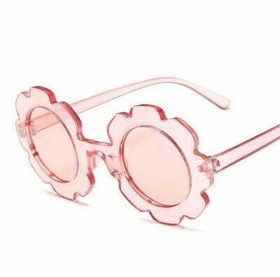 Flower Power Girls Sunglasses-Clear