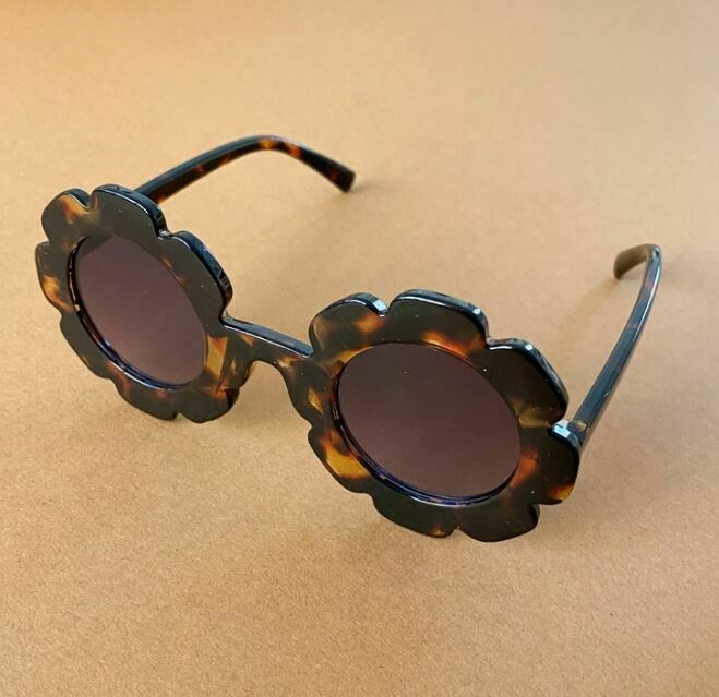 Flower Power Girls Sunglasses-Tortoise