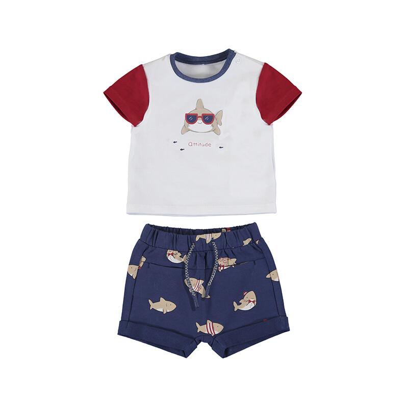 Mayoral Baby Boy Shark Short Set 1220