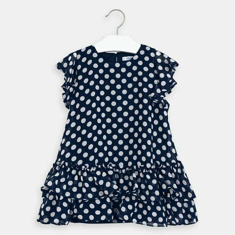 Mayoral Girls Navy Dress 3957