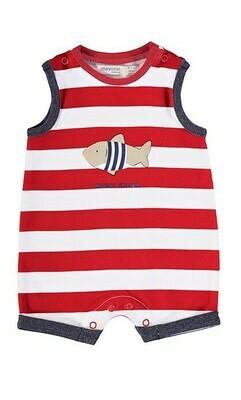 Mayoral Baby Boy Red Stripe Onesie 1651