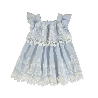 Mayoral Girls Embroidered Poplin Dress 3952