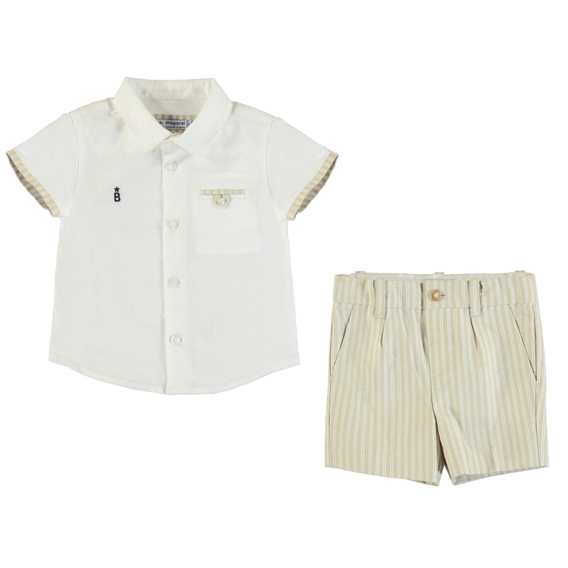 Mayoral Baby Boy Taupe 2-PC Set 1293