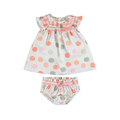 Mayoral Baby Girl Sorbet Polka Dot Dress 1826