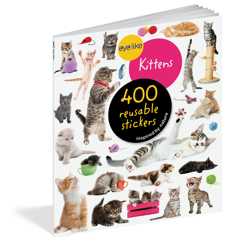 Eye Like Reusable Stickers- Kittens