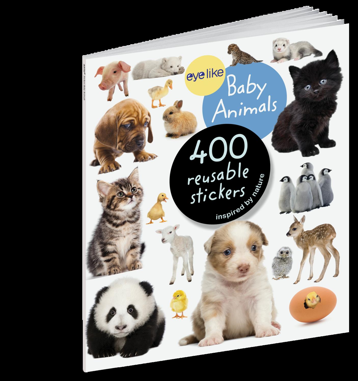 Eye Like Reusable Stickers- Baby Animals