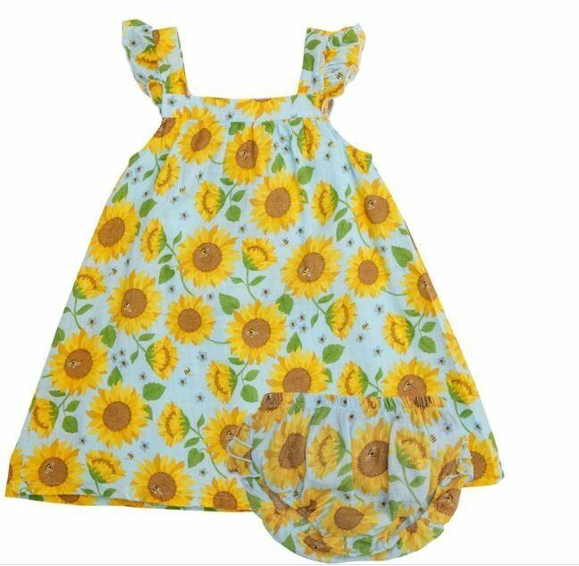 Angel Dear-Sunflower Whisper Blue Pinafore 139S