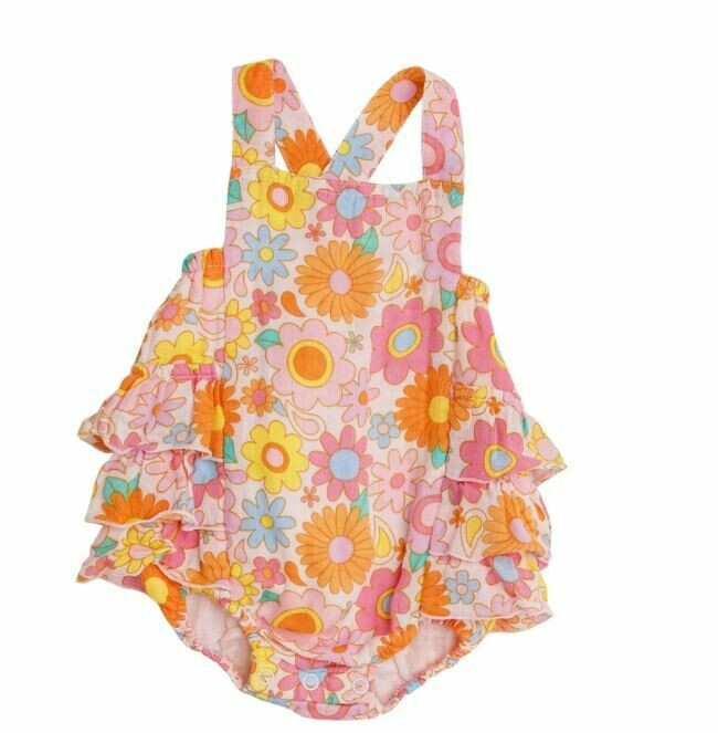 Angel Dear-Retro Daisy Ruffle Sunsuit 1016S