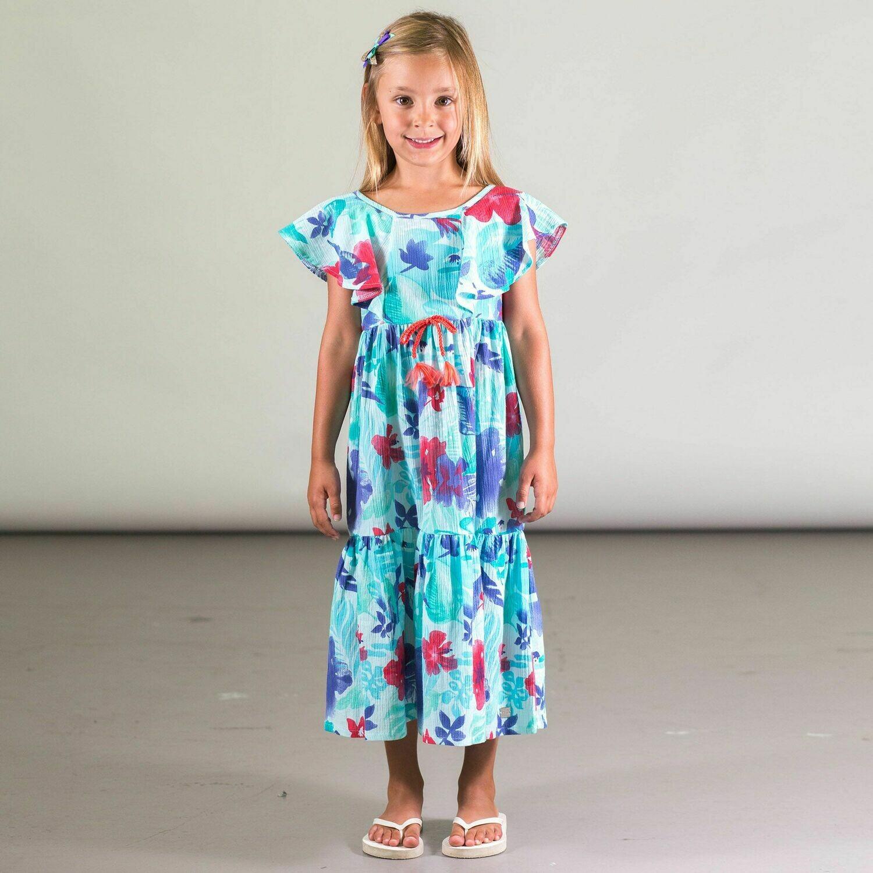 Deux Par Deux Girls Tahiti Crinkle Dress G93