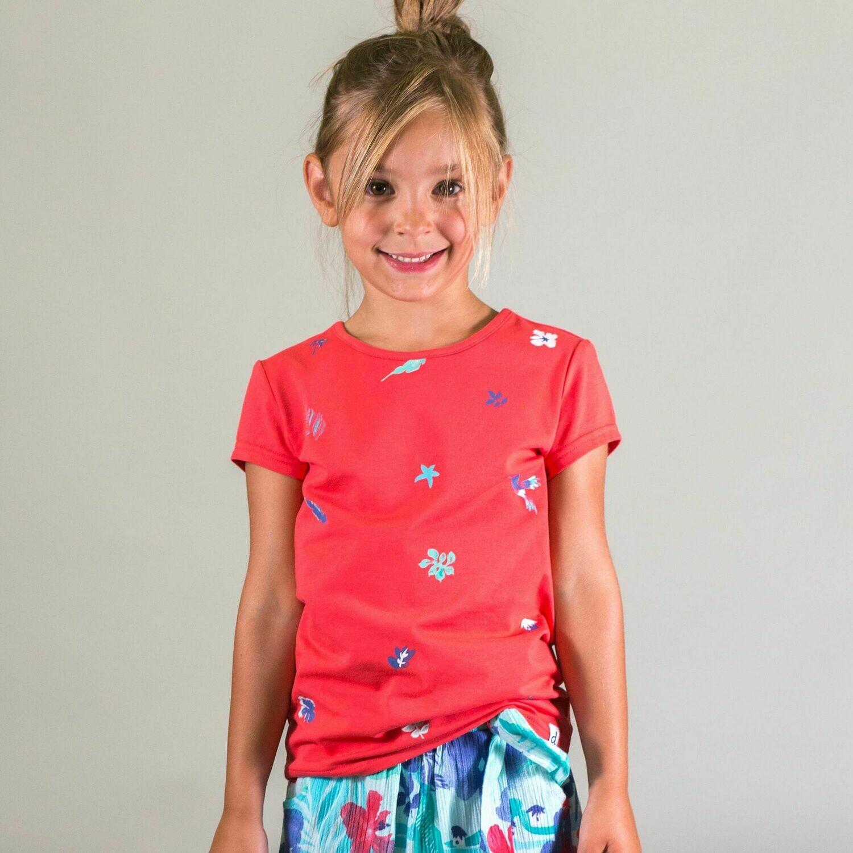 Deux Par Deux Girls Teaberry Organic T-Shirt G70