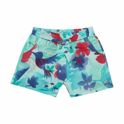 Deux Par Deux Girls Tahiti Crinkle Shorts G25