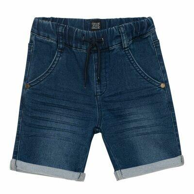 Deux Par Deux Boys Navy Terry Denim Shorts B25