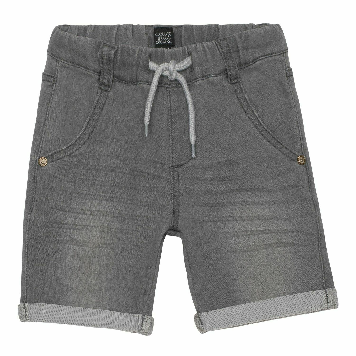 Deux Par Deux Boys Heather Grey Terry Shorts B25