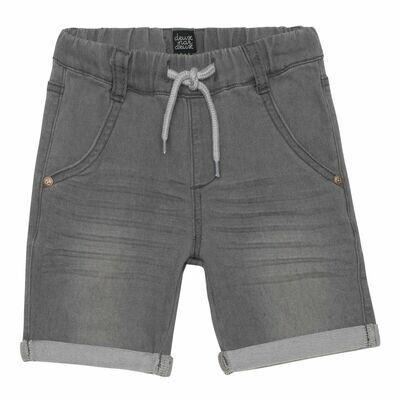 Deux Par Deux Boys Heather Grey Terry Shorts B25