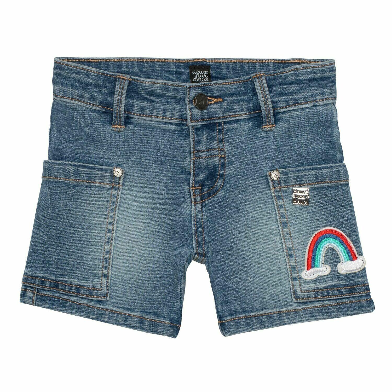 Deux Par Deux Girls Navy Denim Jean Shorts G26