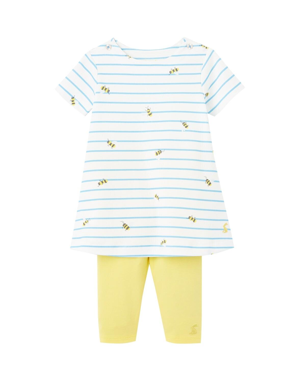 Joules Baby Girl Blue Bees Top w/Leggings 033