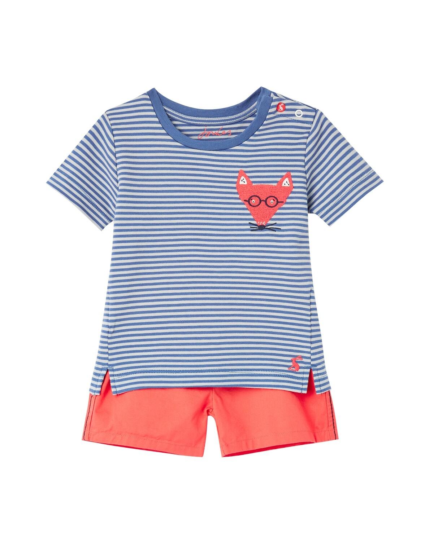 Joules Baby Boy Blue Stripe Fox Set 836