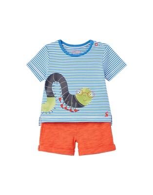 Joules Baby Boy Blue Caterpillar Short Set 835