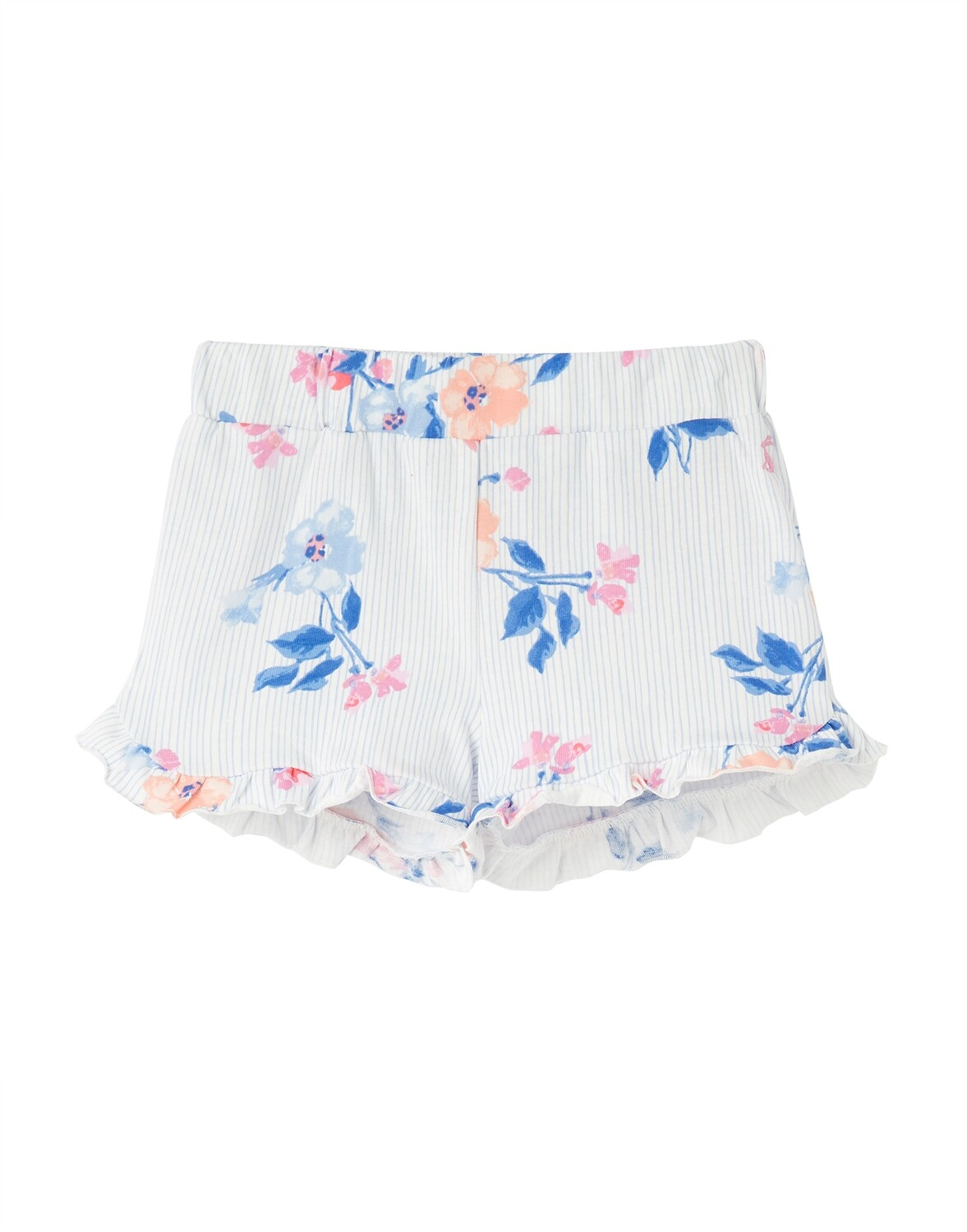 Joules Girls White Floral Shorts 851