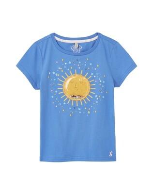 Joules Girls Blue Sun T-Shirt 767