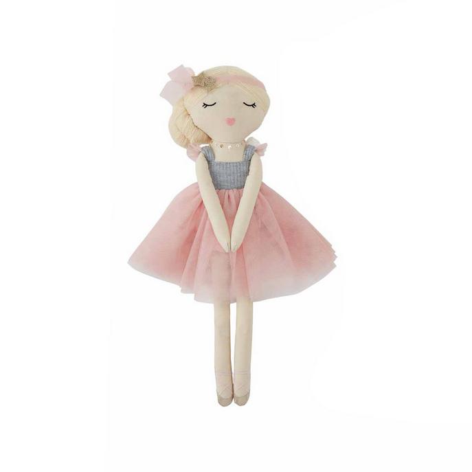 Mud Pie Blonde Ballerina Doll