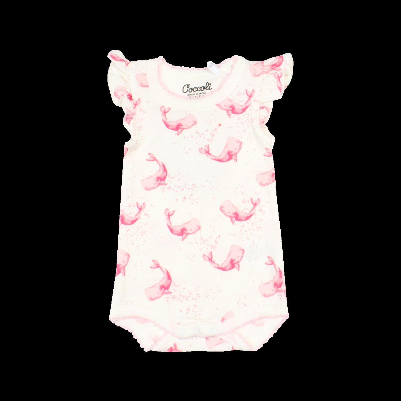 Coccoli-Pink Whales Romper CM5053