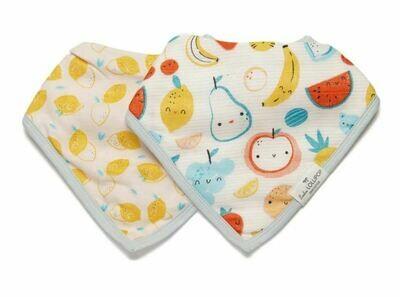 Loulou Lollipop Bandana Bib Set-Cutie Fruits 131
