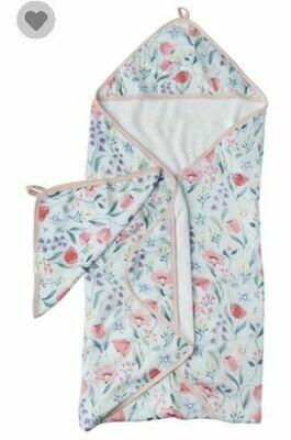 Loulou Lollipop Hooded Towel Set-Bluebell 061
