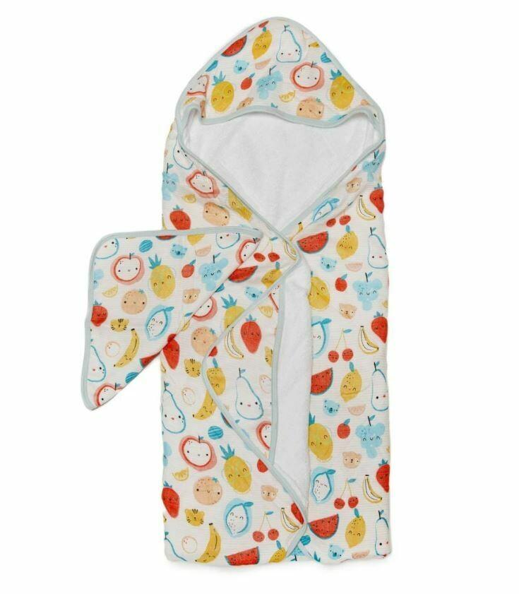 Loulou Lollipop Hooded Towel Set Cutie Fruits