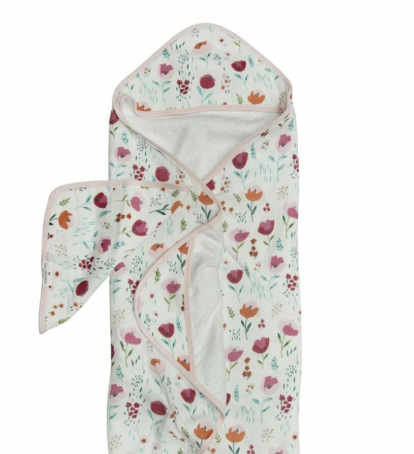 Loulou Lollipop Hooded Towel Set Rosey Bloom