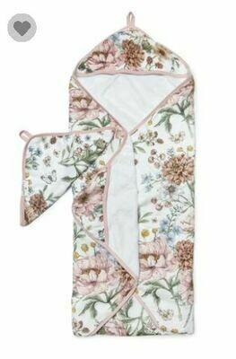Loulou Lollipop Hooded Towel Set-Secret Garden 440