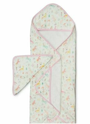 Loulou Lollipop Hooded Towel Set - Unicorn Dream 436