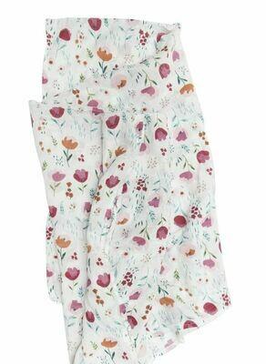 Loulou Lollipop Swaddle Rosey Bloom