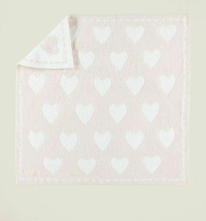 BareFoot Dreams Cozychic Dream Receiving Blanket Pink-White B531
