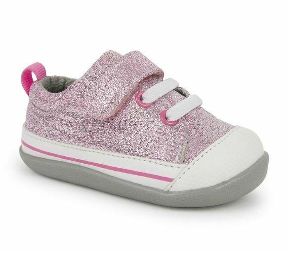 See Kai Run Stevie First Walkers Pink Glitter