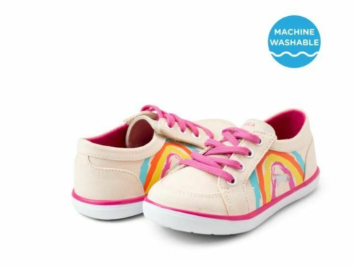 Livie & Luca Reeve Sneaker - Light Blush Rainbow