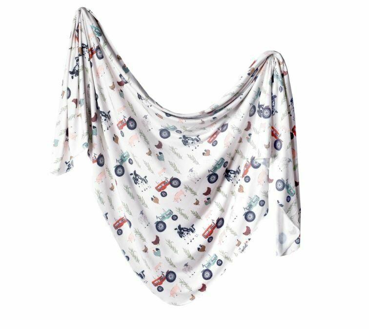 Copper Pearl Knit Swaddle Blanket - Jo