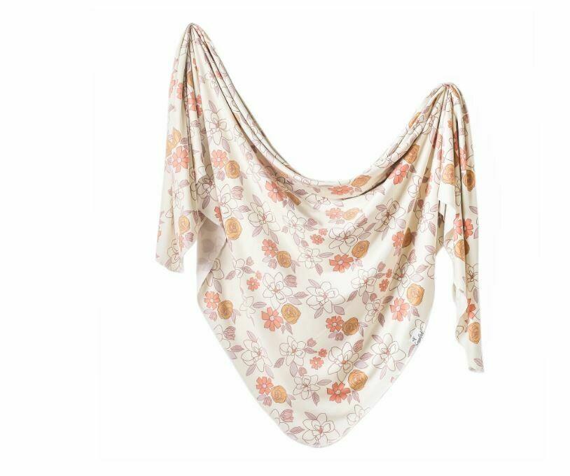 Copper Pearl Knit Swaddle Blanket - Ferra