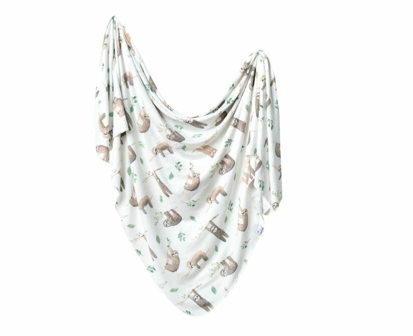 Copper Pearl Knit Swaddle Blanket - Noah