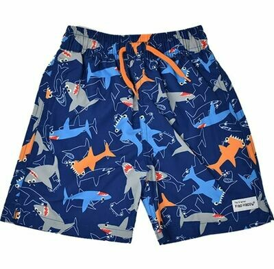 Flap Happy Wesley Swim Trunks- Shark Doodles