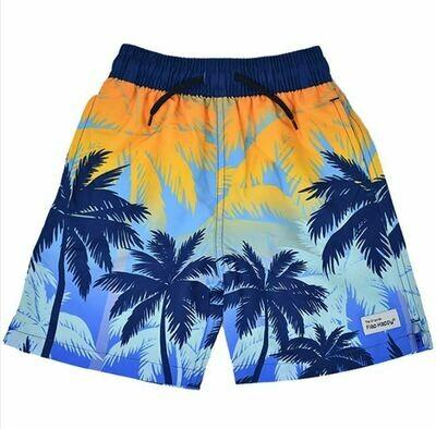 Flap Happy Wesley Swim Trunks- Sunset Palms