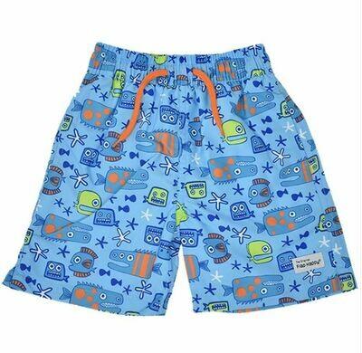 Flap Happy Wesley Swim Trunks- Something's Fishy