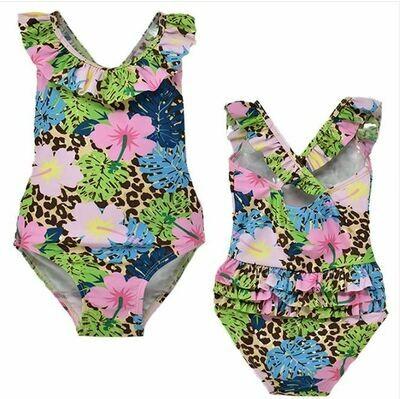 Flap Happy Delaney Swimsuit- Cheetah Blooms