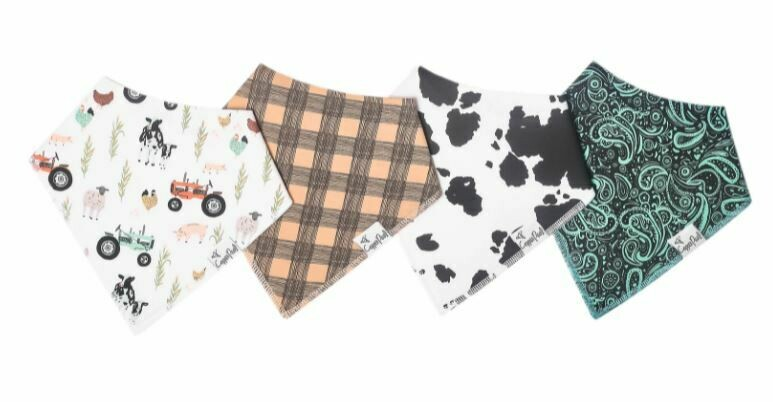 Copper Pearl Bandana Bib Set (4-pack)-Jo