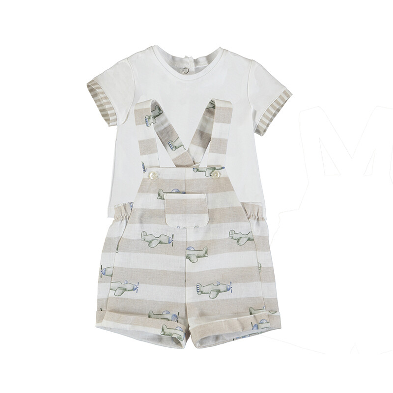 Mayoral Baby Boy Overall & T-Shirt set 1653