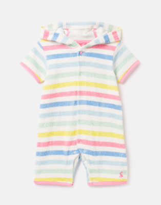 Joules Baby Beach White/Stripe Romper 230