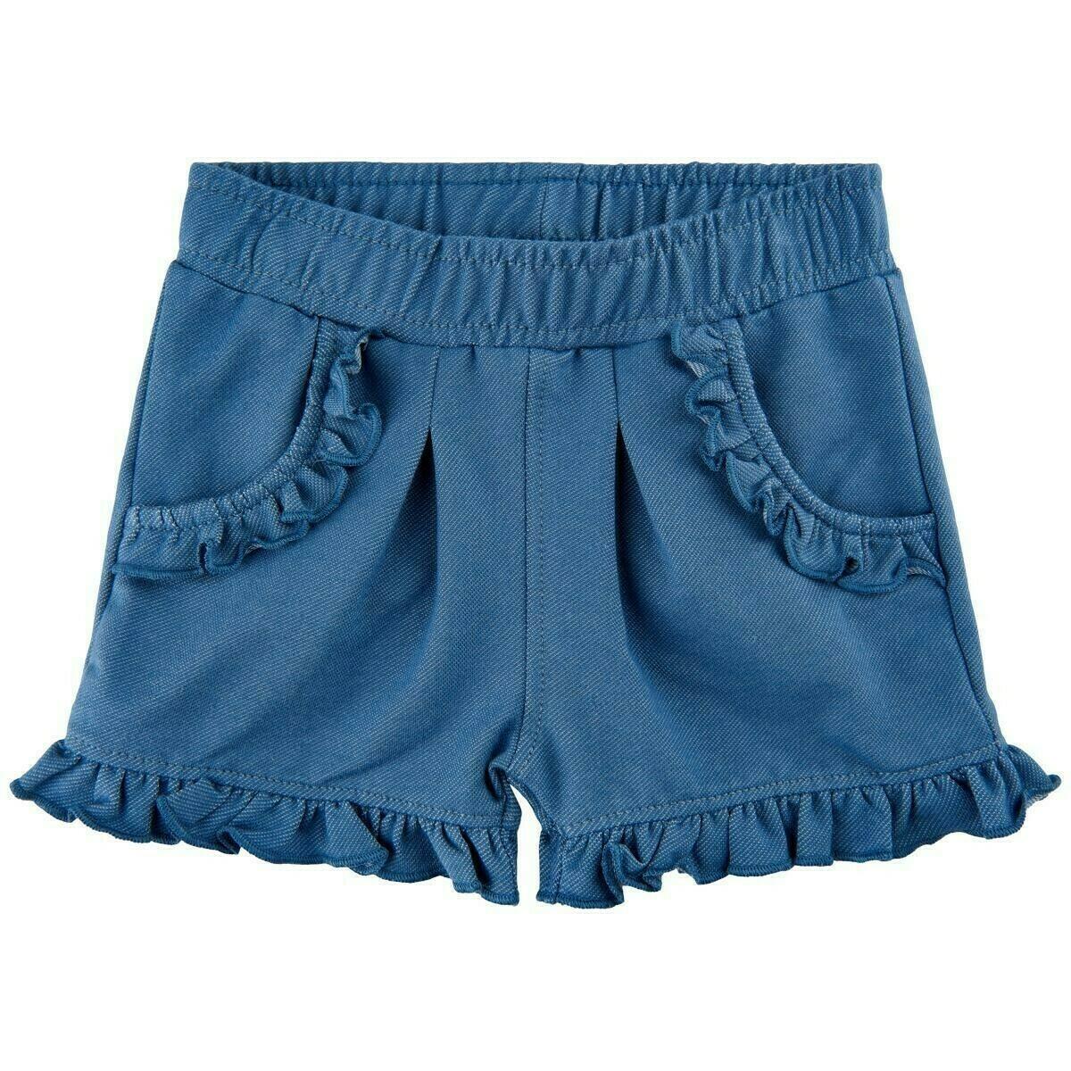 Minymo- Baby Girl Medium Blue Denim Shorts 1105
