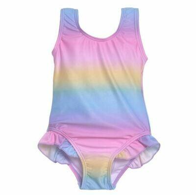 Flap Happy Delaney Swimsuit- Rainbow Ombre