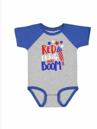 Sweet Wink Red White and Boom S/S Bodysuit