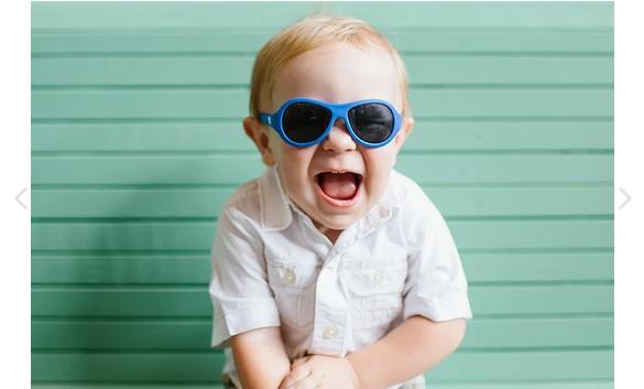 Babiators Aviator Sunglasses Blue-3-5Y